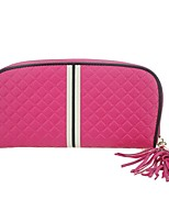 cheap -Women Bags Cowhide Clutch Zipper Tassel for Casual Office & Career All Season Fuchsia