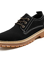 cheap -Men's Shoes Synthetic Microfiber PU Winter Combat Boots Oxfords for Casual Brown Gray Black