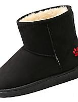 Недорогие -Для женщин Обувь Искусственное волокно Зима Зимние сапоги Ботинки На плоской подошве Круглый носок Сапоги до середины икры для