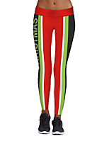 cheap -Women's Stylish Polyester Spandex Medium Print Legging,Print Rainbow