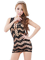 Women's Suits Nightwear,Scoop Neck Jacquard-Thin Nylon Spandex Fuchsia Blushing Pink Black White Blue