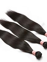 cheap -3 Pieces Natural Black Unprocessed Peruvian Human Hair Weaves Hair Extensions
