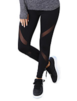 cheap -Women's Lace Polyester Medium Lace Legging,Solid Black