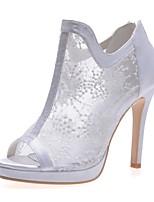 economico -Da donna Scarpe Tulle Primavera Estate Stivaletti alla caviglia scarpe da sposa A stiletto Punta aperta Stivaletti/tronchetti per