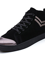 cheap -Men's Shoes Rubber Spring Fall Comfort Sneakers Ribbon Tie for Outdoor Black/White Black/Silver