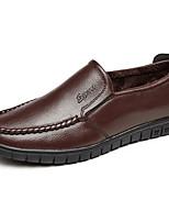 Недорогие -Для мужчин обувь Полиуретан Весна Осень Формальная обувь Туфли на шнуровке для Повседневные Черный Коричневый