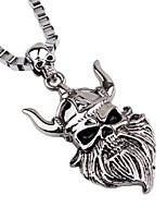 cheap -Men's Skull Gothic Cool Pendant Necklace Chain Necklace , Alloy Pendant Necklace Chain Necklace , Party Going out