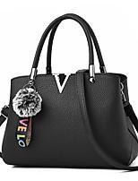 cheap -Women Bags PU Shoulder Bag Zipper for Casual Office & Career All Season Wine Yellow Purple Gray Blushing Pink