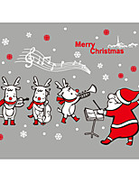 Noël Personnes Stickers muraux Autocollants avion Autocollants muraux décoratifs,Vinyle Décoration d'intérieur Calque Mural Mur Fenêtre
