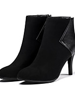 cheap -Women's Shoes Nubuck leather PU Winter Fall Comfort Novelty Fashion Boots Boots Stiletto Heel Pointed Toe Booties/Ankle Boots for Office