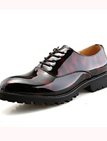 cheap -Men's Shoes Leatherette Spring Fall Formal Shoes Oxfords Null Sequin for Wedding Red Black