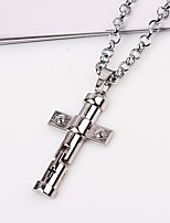 cheap -Men's Cross Classic Ethnic Pendant Necklace Chain Necklace , Alloy Pendant Necklace Chain Necklace , Gift Daily