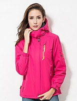 cheap -Unisex Hiking Jacket Outdoor Winter Windproof Rain-Proof Wearable Heat Retaining Jacket Full Length Hidden Zipper Running/Jogging Hiking