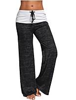 economico -Da donna Pantaloni da corsa Traspirabilità Pantalone/Sovrapantaloni Yoga Pilates Palestra Cotone Largo Nero Blu Grigio M L XL XXL