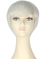 cheap -Women Synthetic Wig Short Straight Platinum Blonde Lolita Wig Party Wig Halloween Wig Carnival Wig Cosplay Wig Natural Wigs Costume Wig