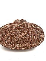preiswerte -Damen Taschen PU Metall Abendtasche Kristall Verzierung für Hochzeit Veranstaltung / Fest Alle Jahreszeiten Kaffee