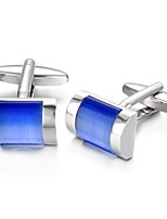 cheap -Geometric Blue Cufflinks Opal Fashion Party Gift Men's Costume Jewelry