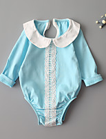 Baby Solid One-Pieces,Cotton Polyester Spring, Fall, Winter, Summer Long Sleeves