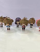 anime action figure ispirate al cardcaptor sakura syaoran li pvc 6 * 4 * 4 cm modello giocattoli bambola giocattolo