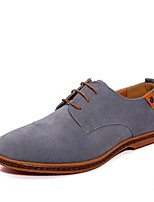 cheap -Men's Shoes Cowhide Spring Fall Comfort Oxfords for Casual Blue Gray Black