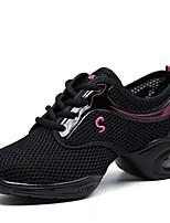 """economico -Da donna Sneakers da danza moderna Tulle Sneaker All'aperto A fantasia Piatto Nero 1 """"- 1 3/4"""" Personalizzabile"""
