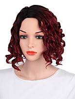 cheap -Women Synthetic Wig Short Body Wave Black/Red Dark Roots Layered Haircut Natural Wigs Costume Wig