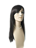 cheap -Women Synthetic Wig Long Kinky Straight Natural Black Natural Hairline With Bangs Party Wig Celebrity Wig Natural Wigs Costume Wig