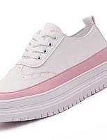 economico -Da donna Scarpe PU (Poliuretano) Inverno Comoda Sneakers Piatto Punta tonda per Casual Nero Grigio Rosa