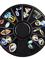 1 Box Symphony Glitter 3D Nail Rhineston Decoration Crystal Charm Design Stone In Wheel DIY Manicure Nail Art Accessories