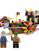cheap -Building Blocks Boat Toys Ship Beach Theme Nautical Pirates Non Toxic Pirate Kids Adults' Boys' 345 Pieces