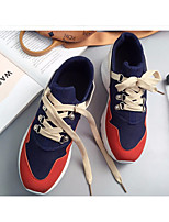 cheap -Women's Shoes Suede Spring Fall Comfort Sneakers Flat Heel Round Toe for Casual Blue Orange Black