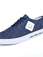 cheap -Men's Shoes PU Fabric Spring Fall Comfort Sneakers for Casual Blue Gray Black