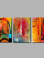 cheap -Hand-Painted Abstract Horizontal Panoramic,Modern Canvas Oil Painting Home Decoration Three Panels