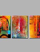 economico -Dipinta a mano Astratto Modern Tela Hang-Dipinto ad olio Decorazioni per la casa Tre Pannelli