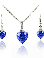 cheap -Women's Jewelry Set Bridal Jewelry Sets Simple Lovely Fashion Wedding Evening Party Silver Plated 1 Necklace Earrings