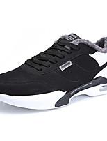 Недорогие -Для мужчин обувь Ткань Зима Осень Флисовая подкладка Кеды для Повседневные Белый Черно-белый Черный/Красный