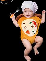 cheap -Baby Unisex Daily Geometric Clothing Set,Cotton All Seasons Simple Sleeveless Yellow