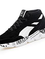 abordables -Homme Chaussures Croûte de Cuir Polyuréthane Printemps Automne Confort Basket pour Athlétique Décontracté Noir Bleu de minuit