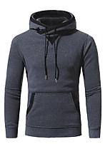 cheap -Men's Casual/Daily Simple Sweatshirt Print Round Neck Micro-elastic Cotton Long Sleeve Winter Spring/Fall