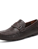 cheap -Men's Shoes Nappa Leather Spring Fall Comfort Loafers & Slip-Ons for Casual Office & Career Brown Black