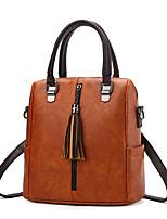 cheap -Women Bags PU Shoulder Bag Tassel for Shopping Casual All Season Dark Red Wine Army Green Brown Gray