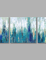 cheap -Hand-Painted Abstract Vertical,Modern Canvas Oil Painting Home Decoration Three Panels