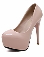 cheap -Women's Shoes PU Spring Fall Basic Pump Heels Stiletto Heel Round Toe for Casual Dress Pink Black