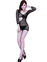cheap -Women's Suits Nightwear,V-neck Jacquard-Thin Nylon Spandex Black