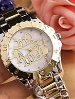 abordables -Mujer Reloj Casual Reloj de Moda Reloj de Pulsera Chino Cuarzo Reloj Casual Aleación Banda Casual Elegant Plata Dorado Oro Rosa