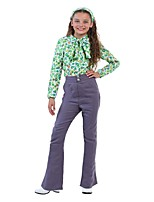 cheap -Hippie Costume Kid Blouse/Shirt Pants Green Vintage Cosplay Polyester Long Sleeves Bell Briefs