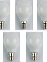 cheap -5pcs 4W E14 LED Globe Bulbs G45 6 leds SMD 3528 Cold White 325lm 6400K AC 180-240V