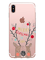 abordables -Coque Pour Apple iPhone X / iPhone 8 Transparente / Motif Coque Mot / Phrase / Bande dessinée / Noël Flexible TPU pour iPhone X / iPhone 8 Plus / iPhone 8