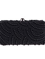 cheap -Women Bags Polyester Evening Bag Pearl Detailing for Wedding Event/Party All Season Black/White Almond Black White Champagne