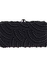 preiswerte -Damen Taschen Polyester Abendtasche Perlen Verzierung für Hochzeit Veranstaltung / Fest Alle Jahreszeiten Champagner Weiß Schwarz